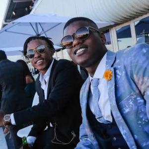 Gentlemen enjoying the Beluga Lounge Hospitality at the Durban July