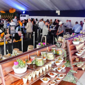Delicious food at the Beluga Lounge Hospitality Tent at the Durban July