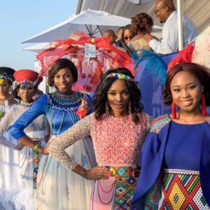 Fashionable ladies at the Durban July