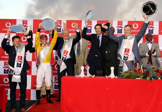 Jockey of horse Do It Again wins