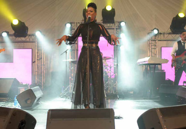 Jazz Singer at the Glenlivet Jazztown at the Durban July