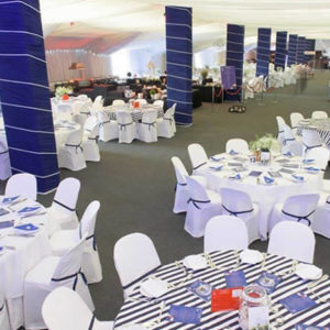 One Stop Hospitality group tables at the Durban July